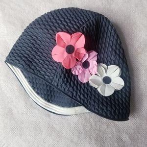 Vintage floral swim cap